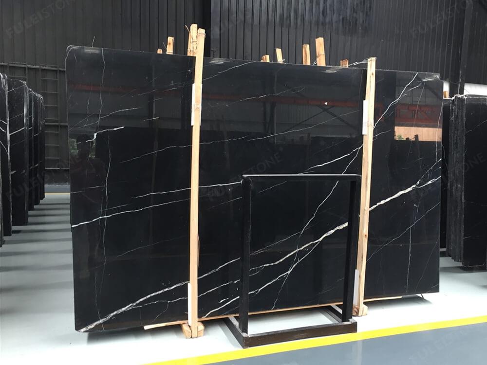 Black Marquina Marble slab