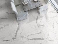 Statuario White Marble Flooring Tile
