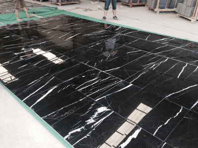 black marquina marble tile match