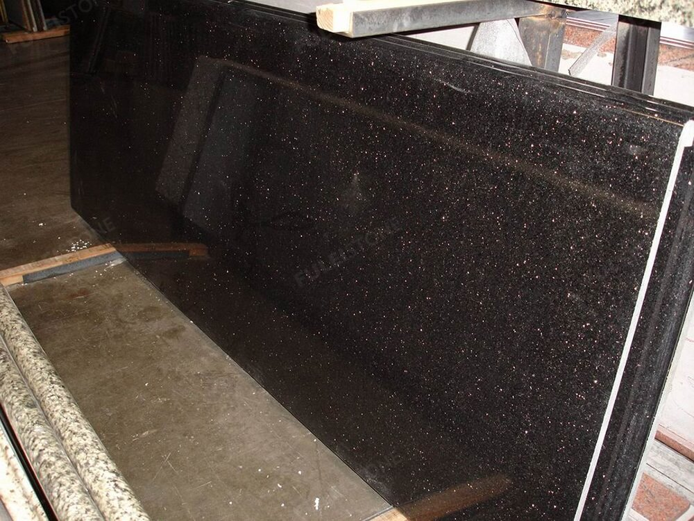 Black Galaxy Granite Slab Factory Price For Wholesale Fulei Stone