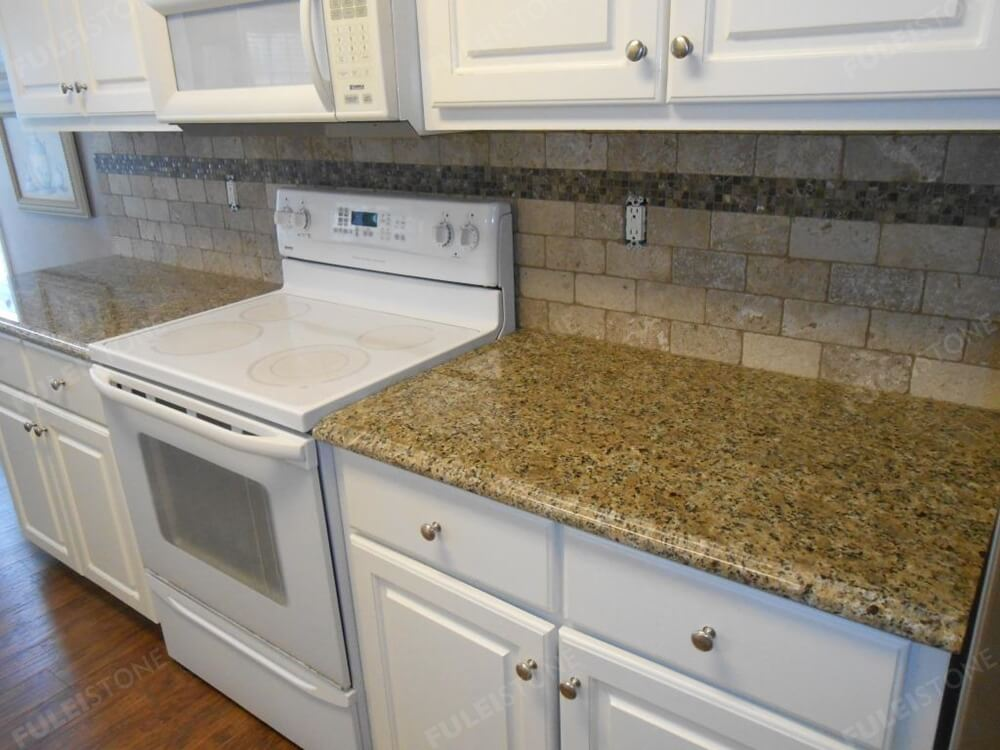 brazilian gold granite kitchen countertop