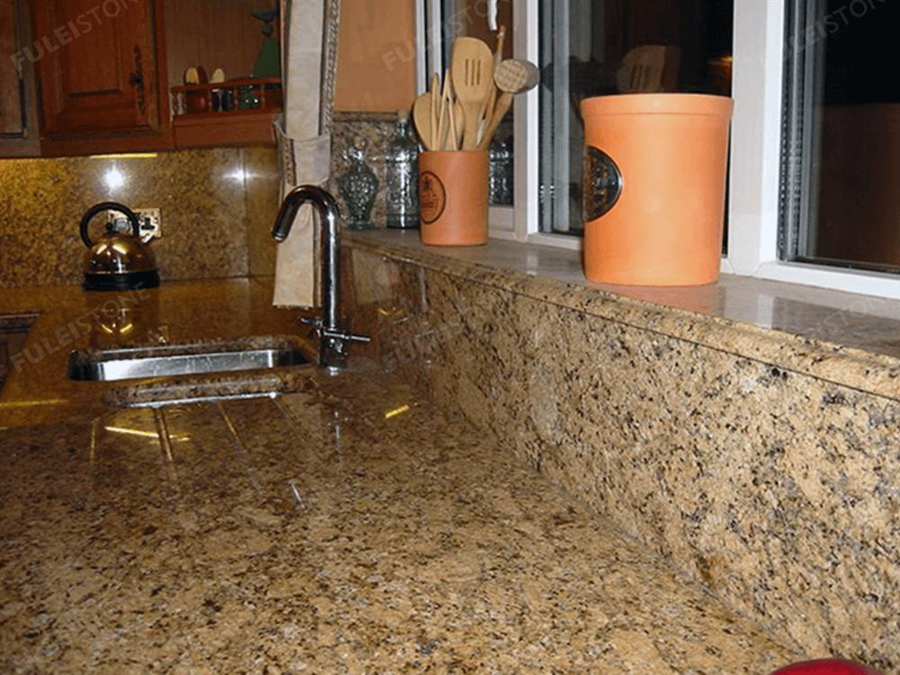 giallo veneziano granite kitchen countertop