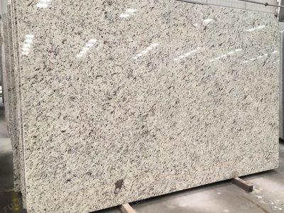 rose white granite slab