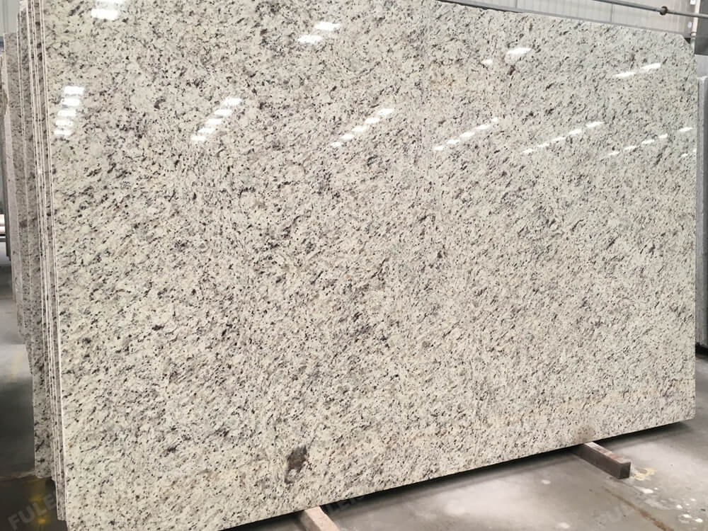 rose white granite slab
