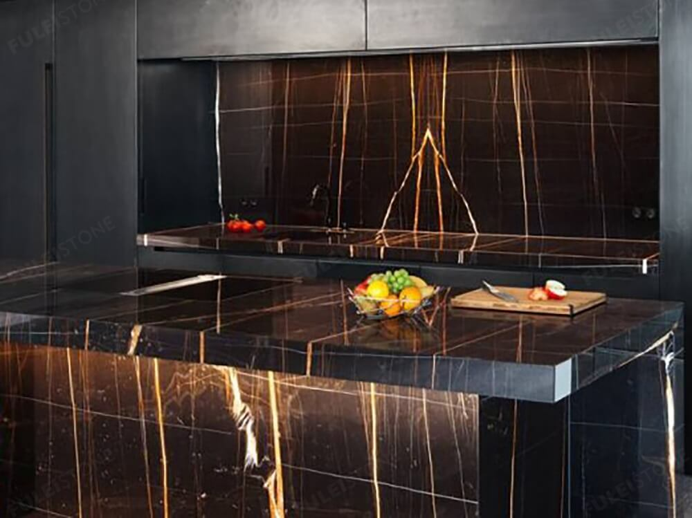 Sahara Noir Marble Slab Natural Polished On Sale Fulei Stone