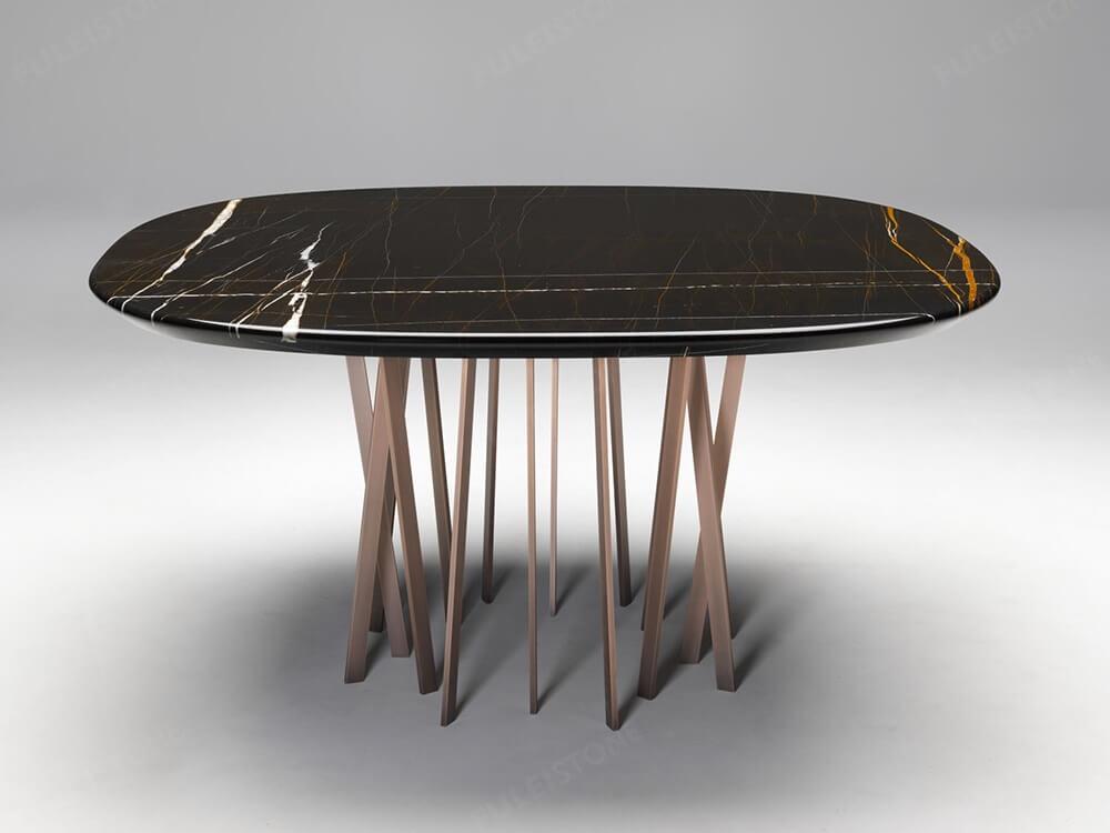 sahara noir marble table
