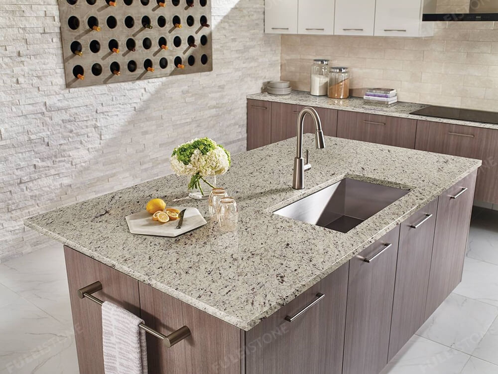 white rose granite countertop