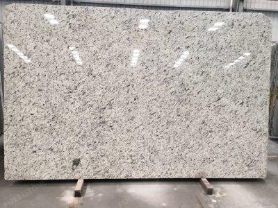 white rose granite slab