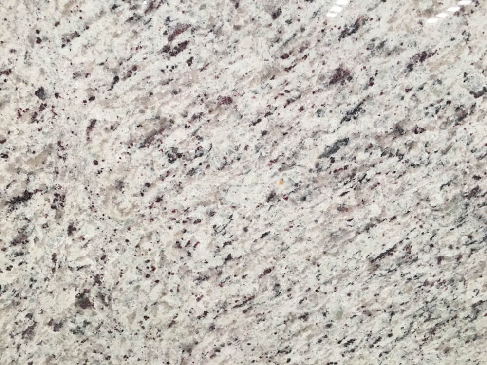white rose granite surface