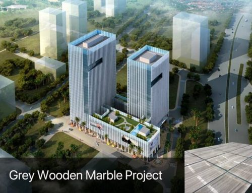 Amoy Haixi Financial Square Grey Wooden Marble Project
