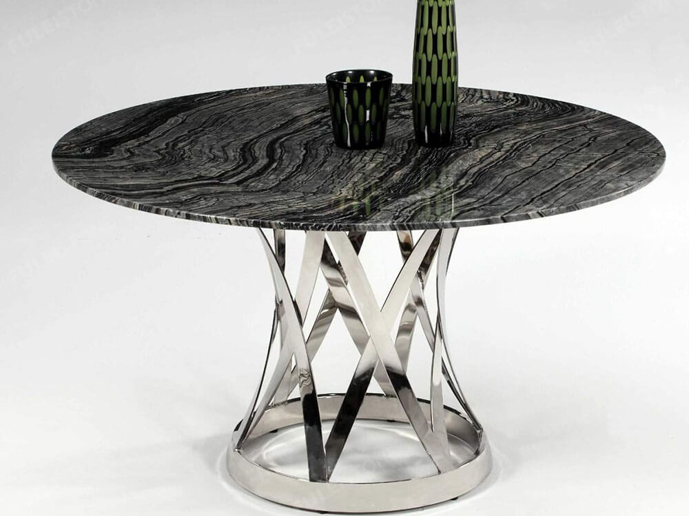 Antico Wood Marble Table