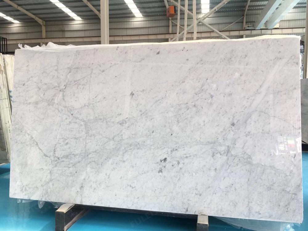 Bianco White Carrara Marble Slab Direct