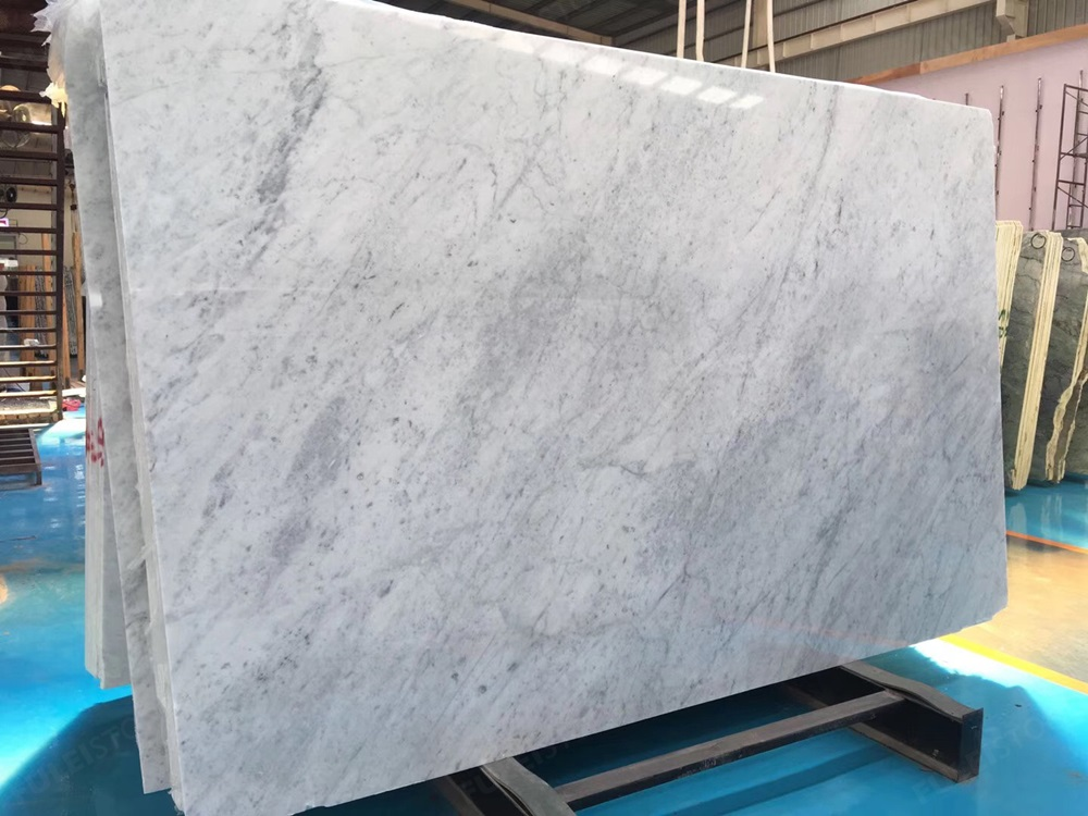 Bianco White Carrara marble slab