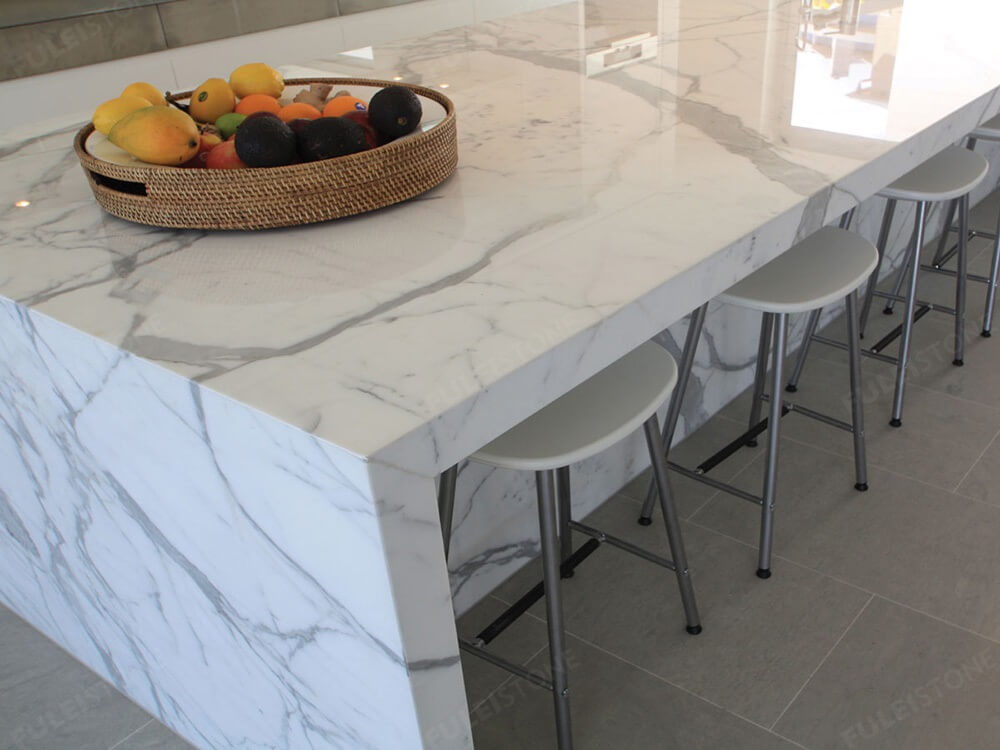 Calacatta Marble Countertop Detail