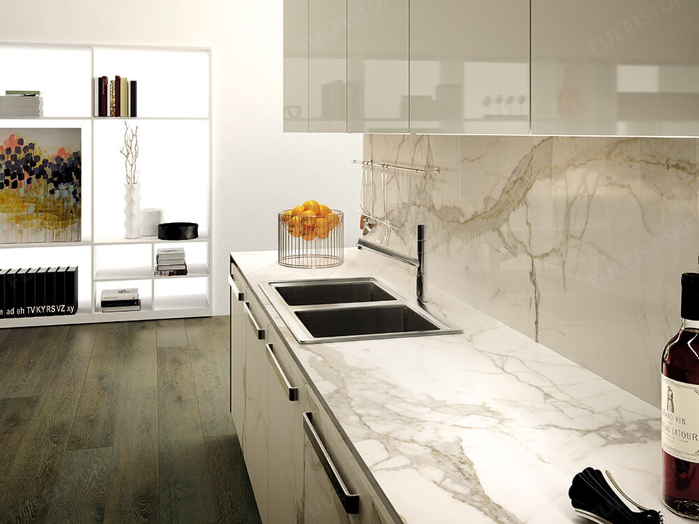 Calacatta Marble Kitchen Countertop
