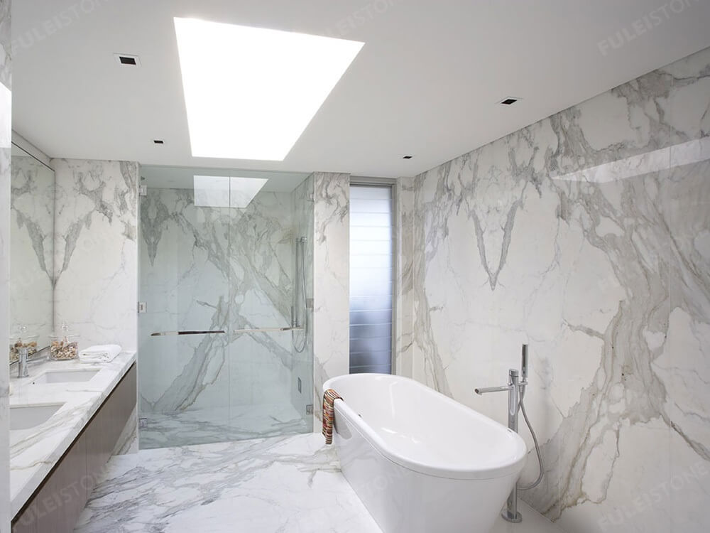 Calacatta White Marble Bathroom Decoration