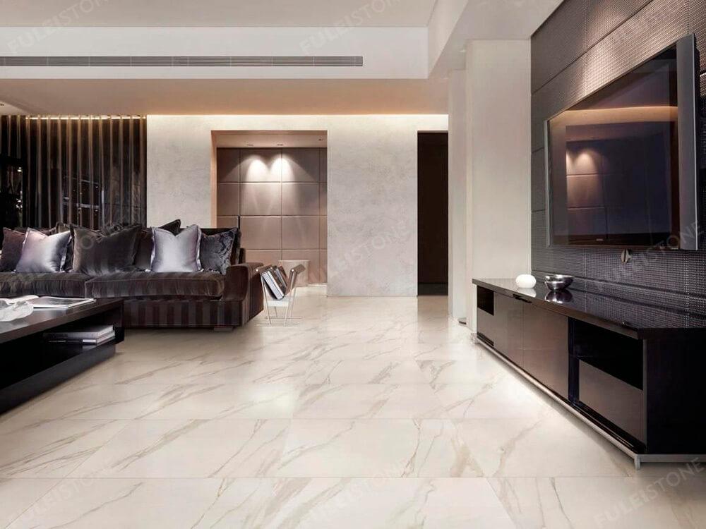 Calacatta White Marble Flooring Tiles
