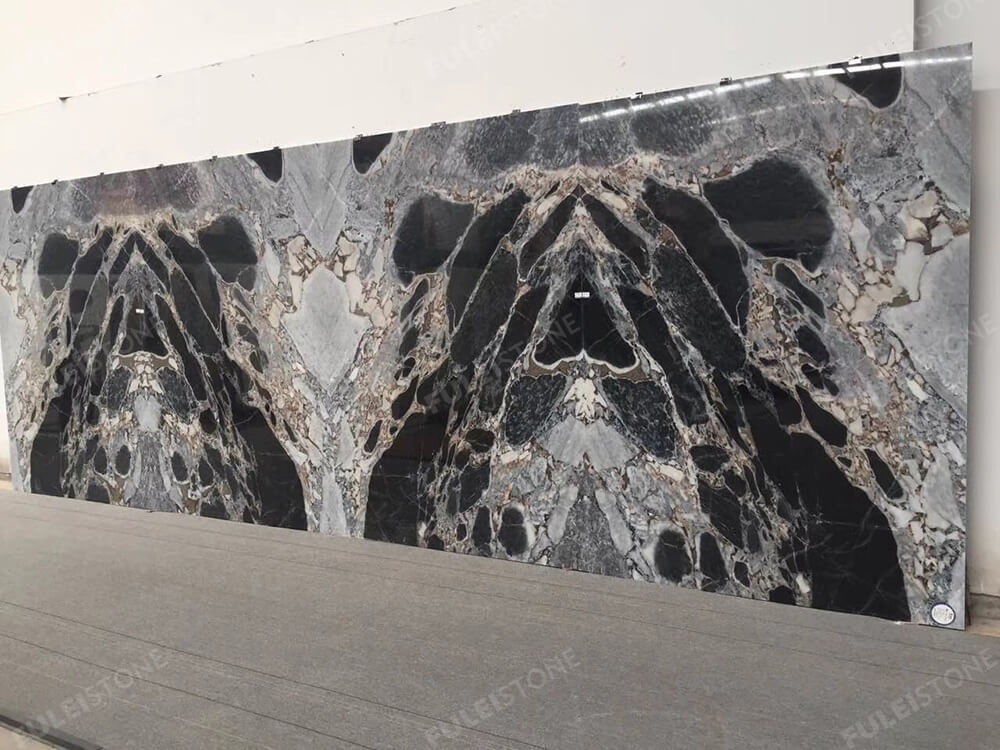 Cosmic Black Marble Wall Cladding Tiles