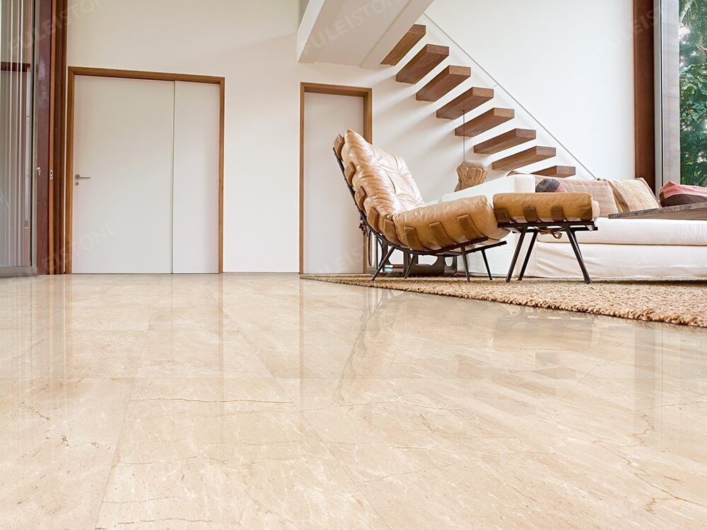 Crema Marfil Marble for Condo Decoration