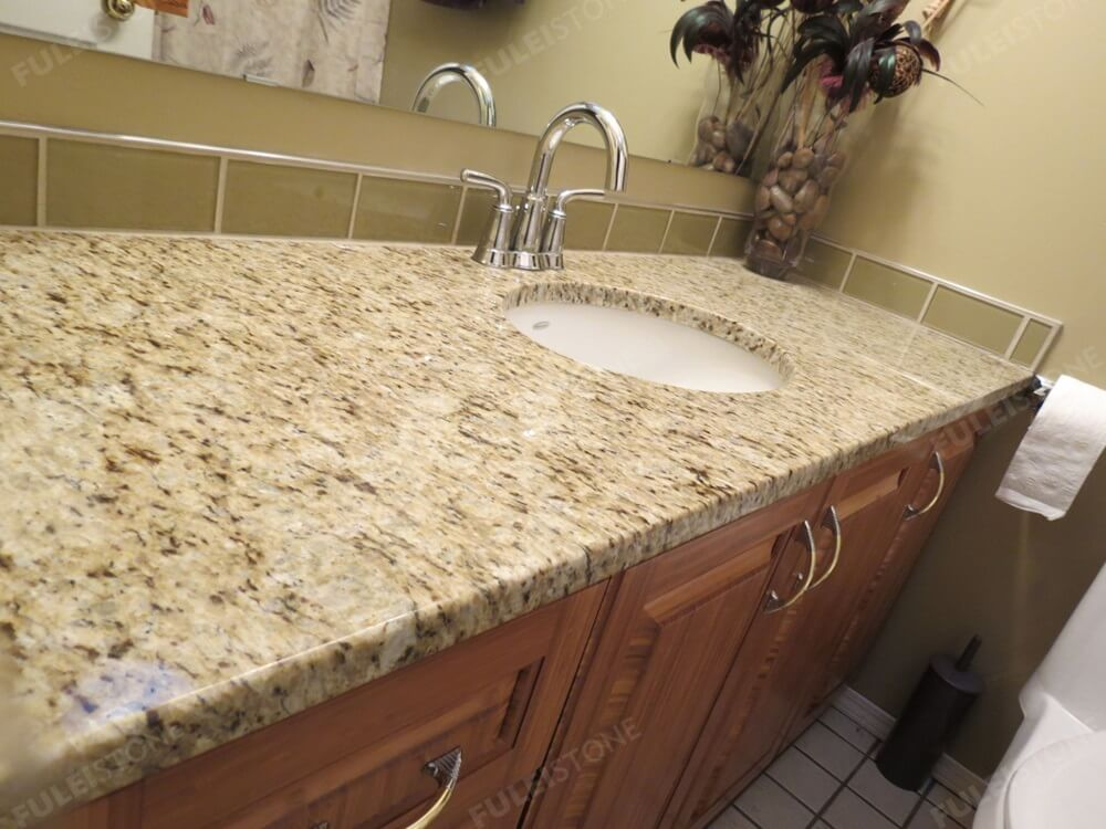Giallo Ornamental Granite Bathroom Vanity Tops