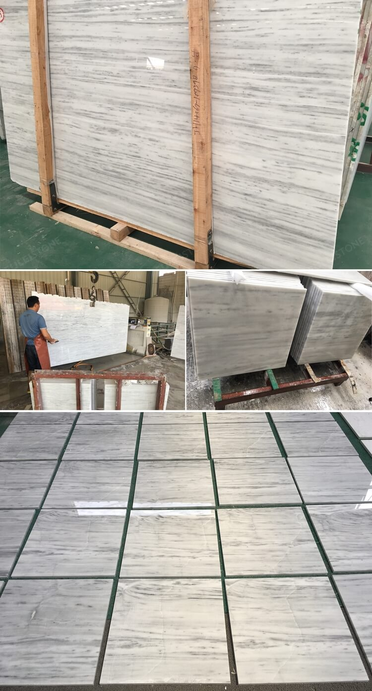 Kavala Marble tile in factory
