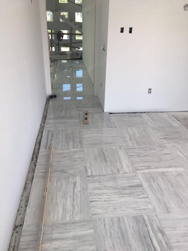 Kavala White Marble Flooring Tile