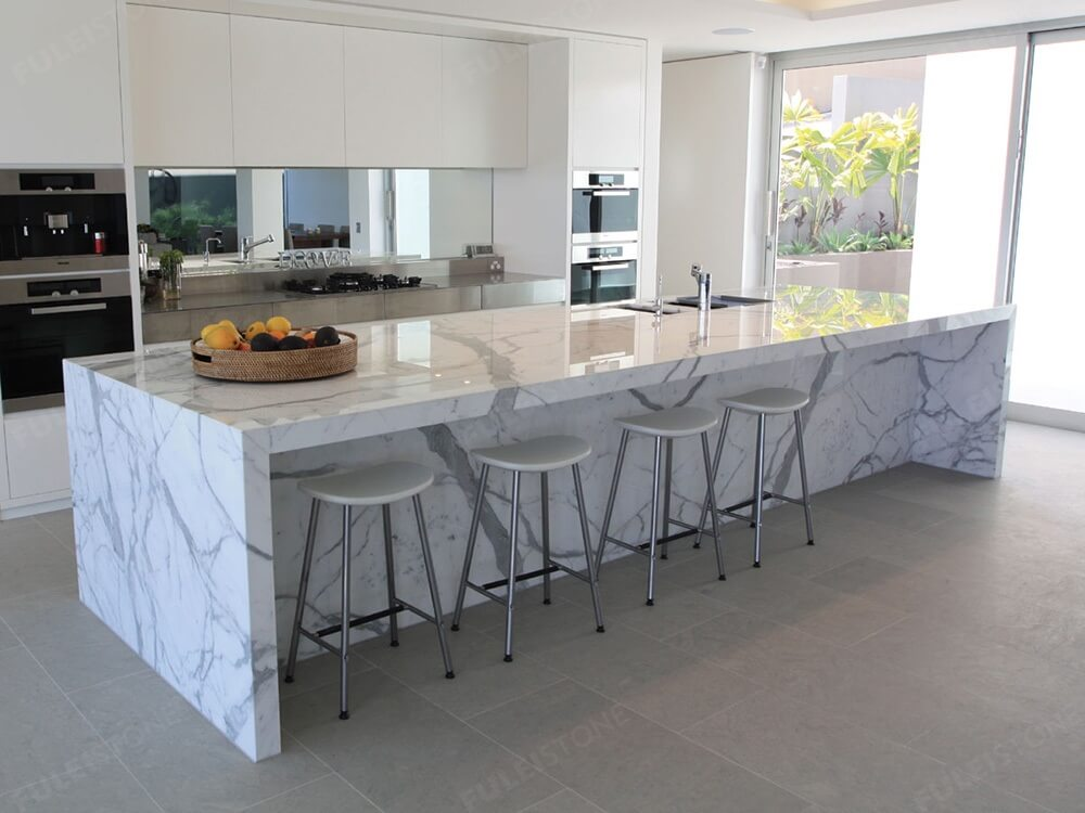 Polished Calacatta Marble Countertop