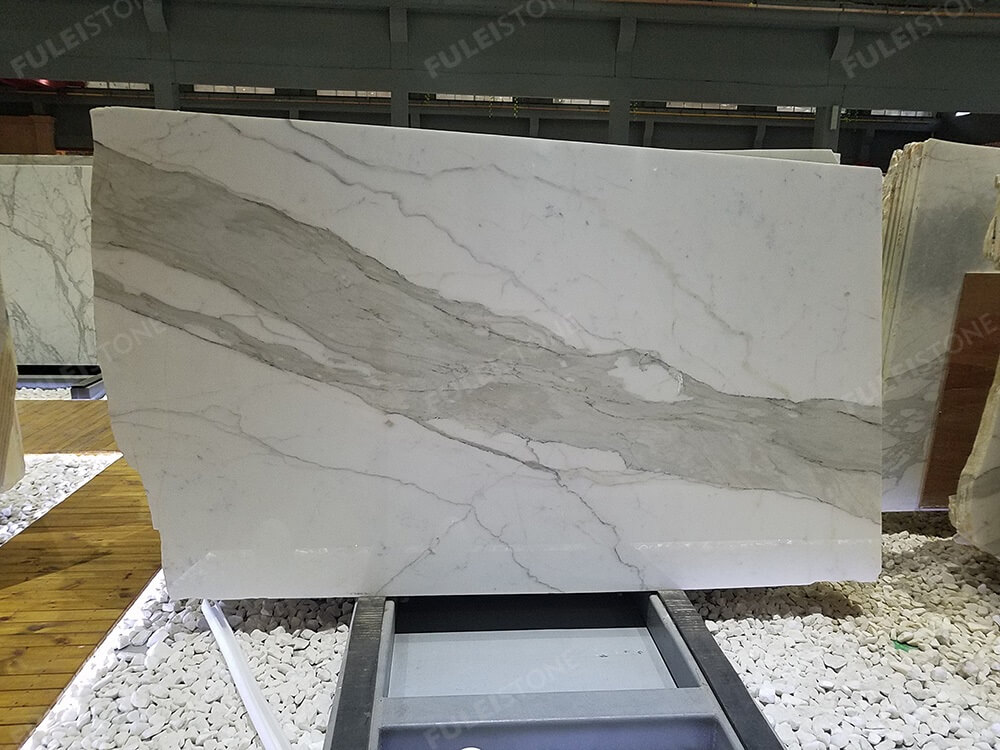 Polished Calacatta White Marble Slabs