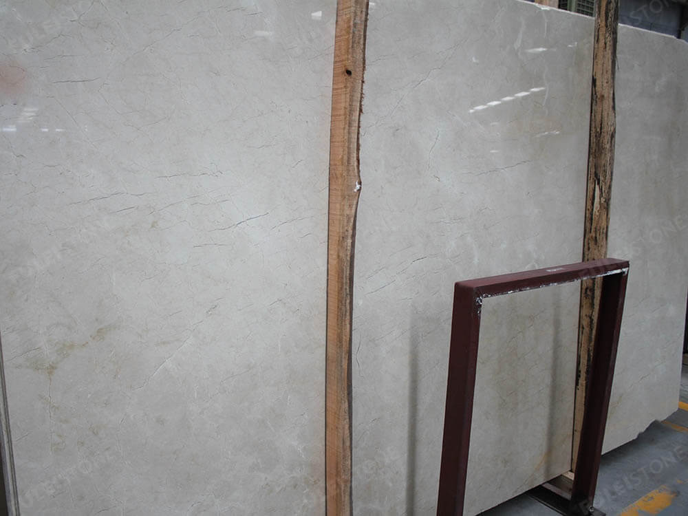 Polished Crema Marfil Marble Slabs