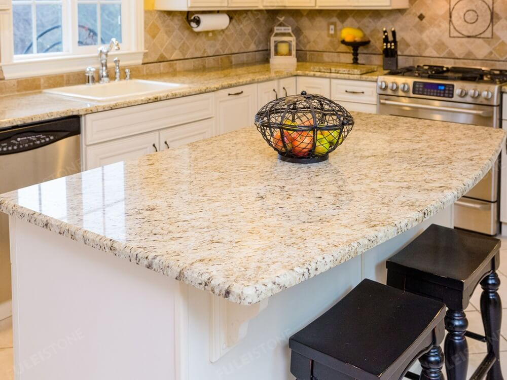 Polished Giallo Ornamental Granite Countertops