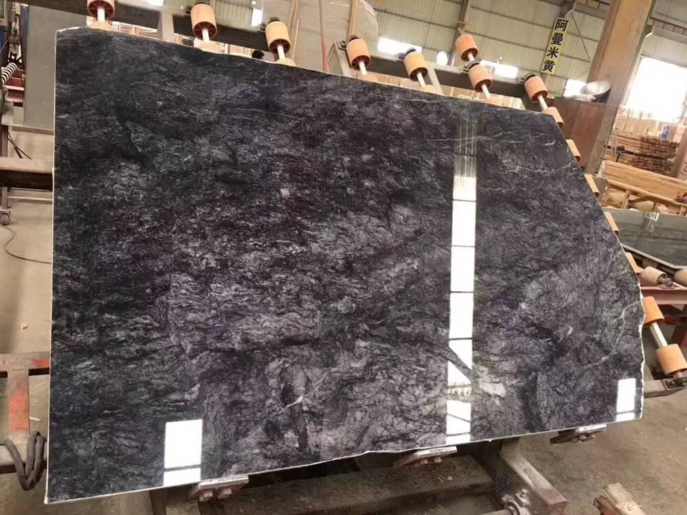 Snow Black Marble Polished