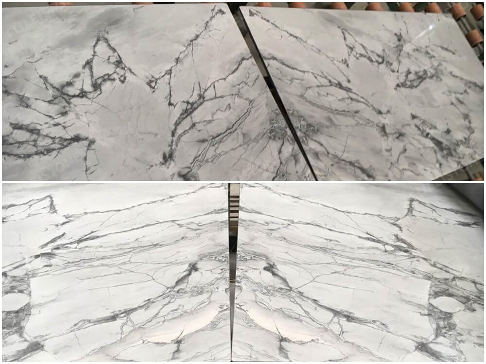 Super Grey Marble Bookmatched