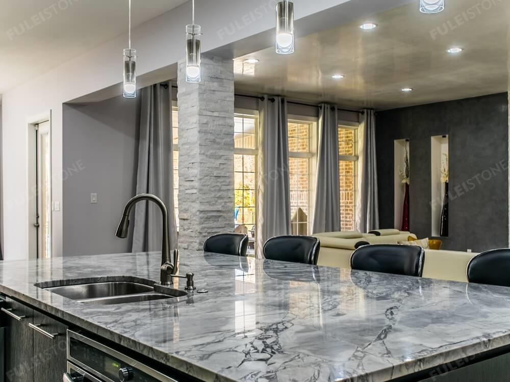 Super Grey Marble Countertop