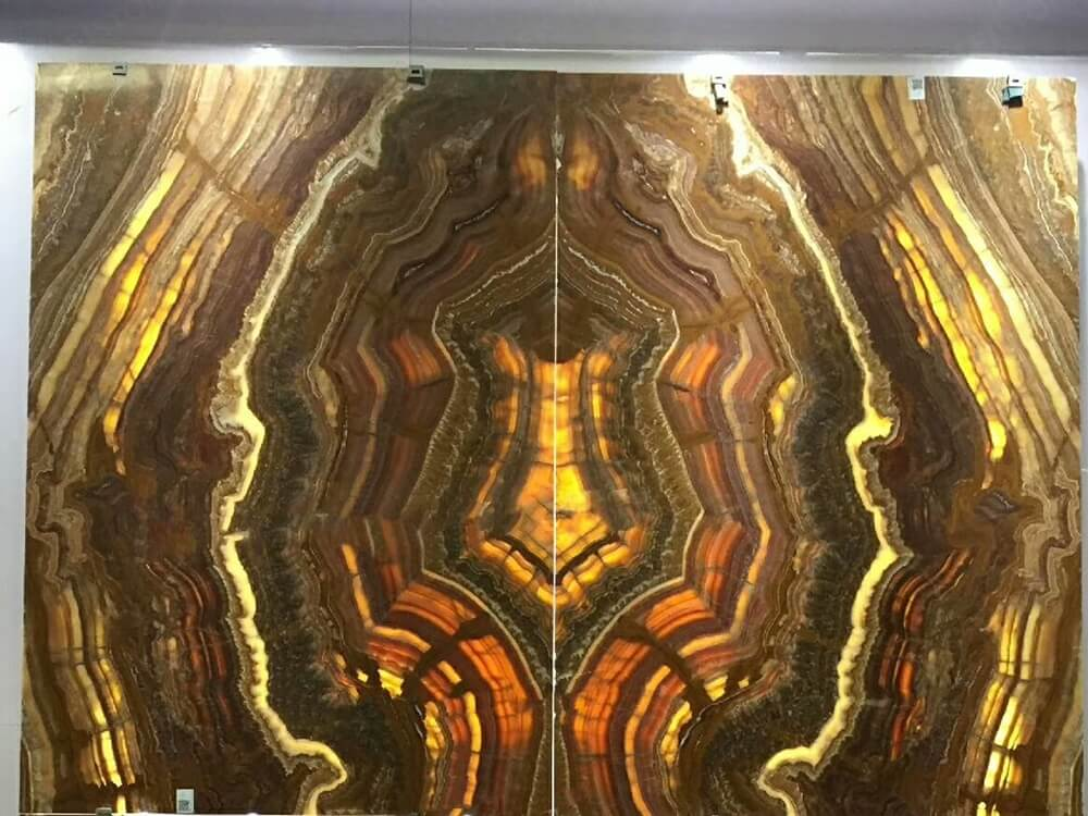 Tiger Onyx Marble Bookmatched