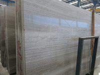 Wooden Grey Marble Slab Polished