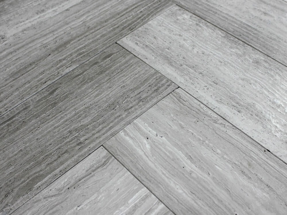 Wooden Grey Marble Slab for Floor