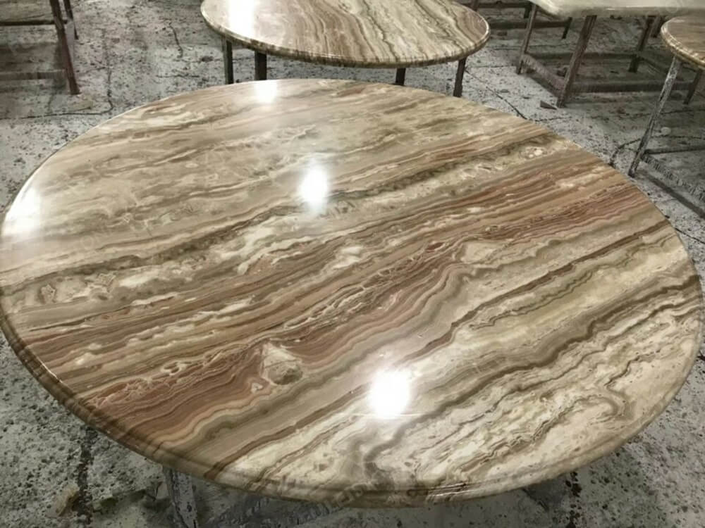 Wooden Onyx Round Table