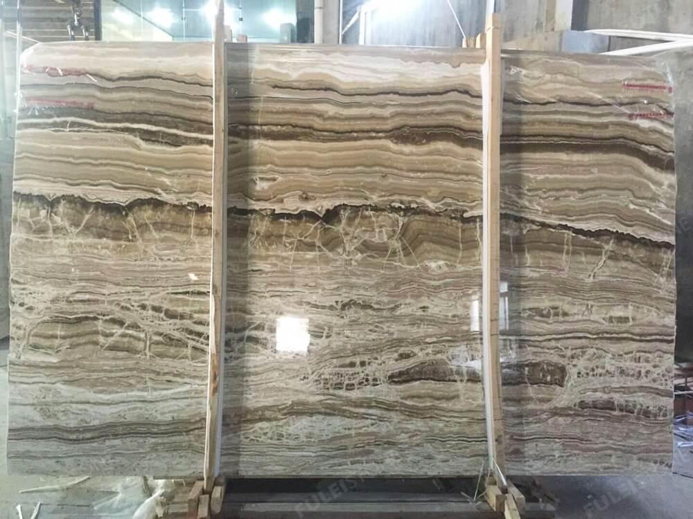 Wooden Onyx Slab