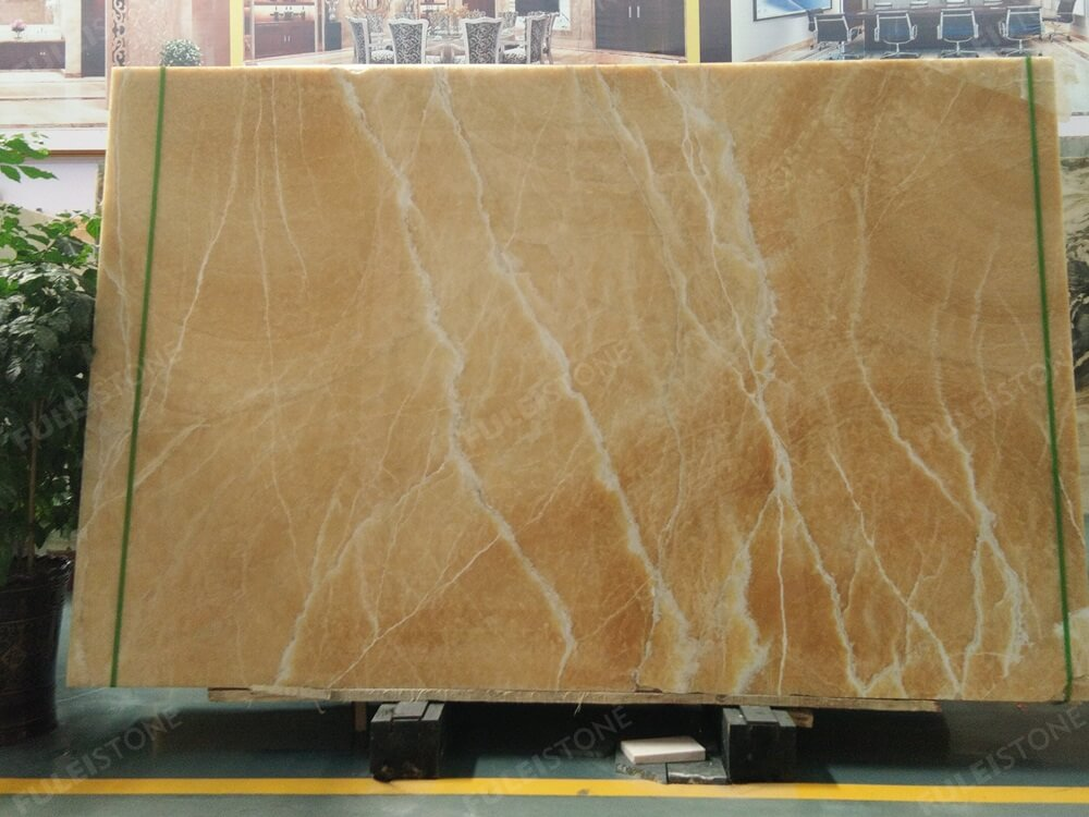 Yellow Honey Onyx Slab