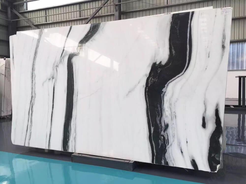 panda white marble slab