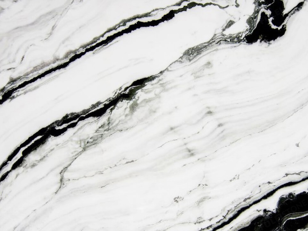 panda white marble surface
