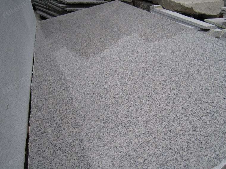 rough grey granite slab