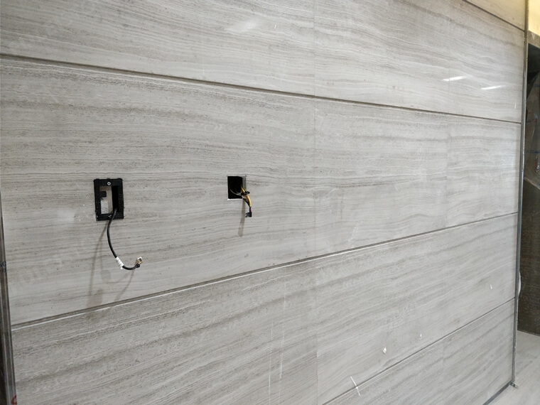 wooden marble wall project