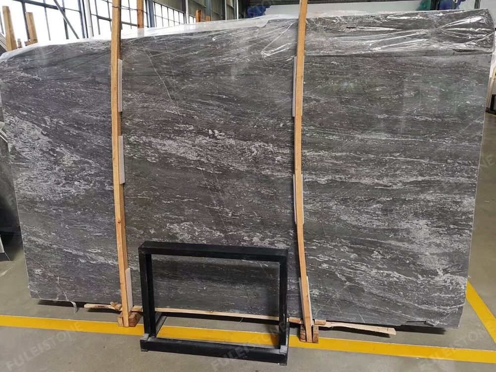 45 Degree Blue Grey Marble Slabs