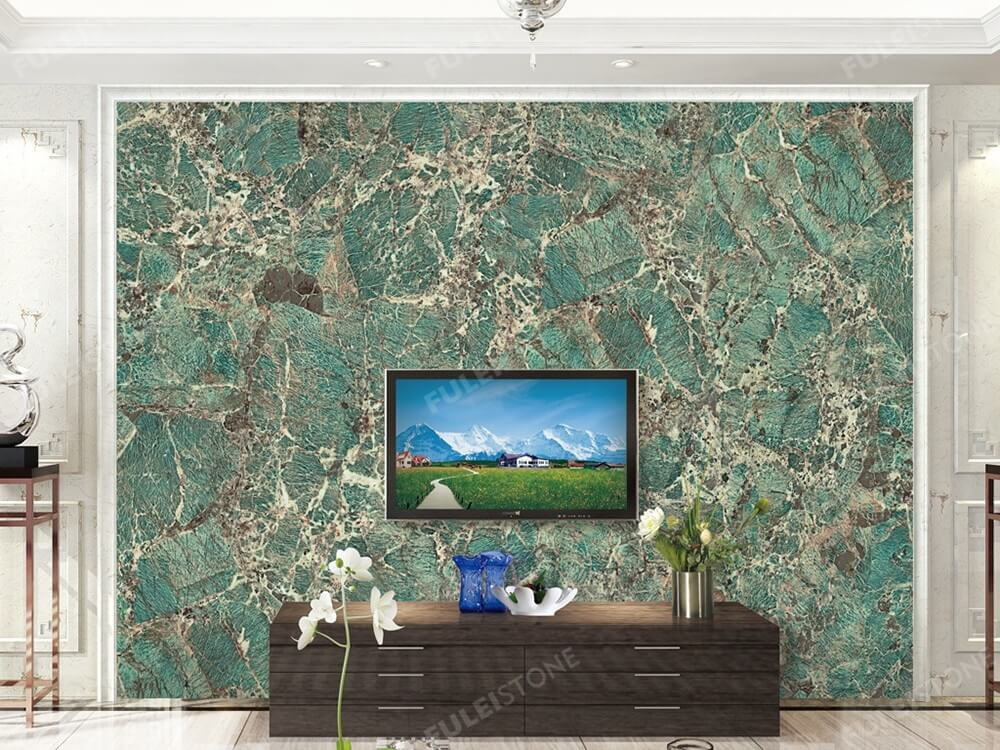 Amazon Green Quartzite Granite Wall Decoration