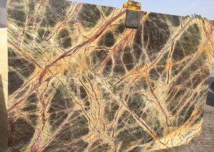 Antique Rain Forest Green Marble Slab