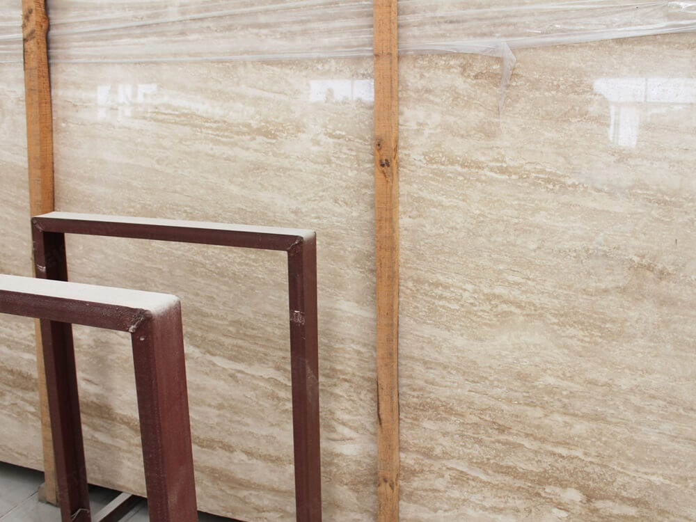 Travertine Beige Marble Slab