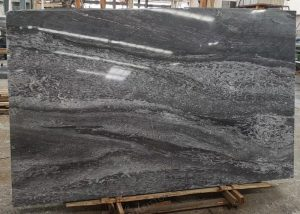 China 45 Degree Blue Grey Marble Slabs