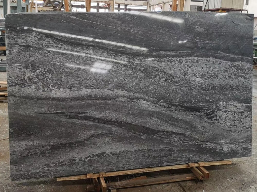 China 45 Degree Blue Grey Marble Slabs