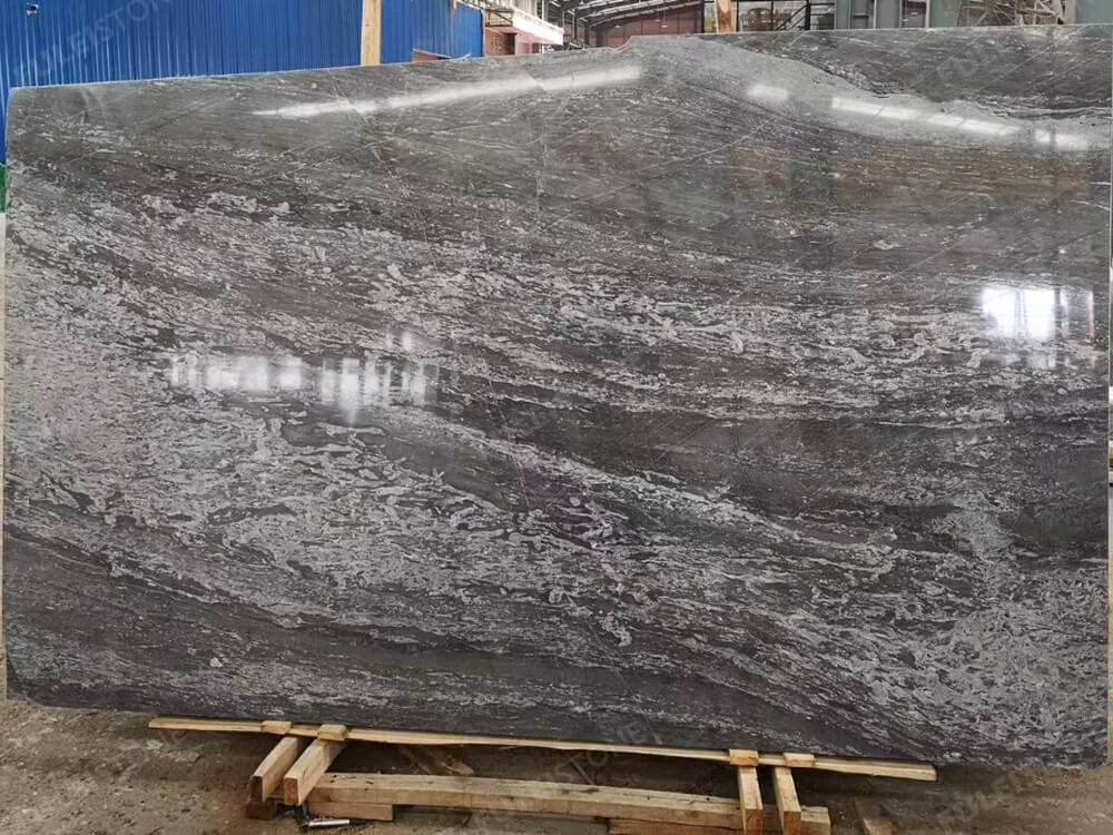 China 45 Degree Blue Grey Marble
